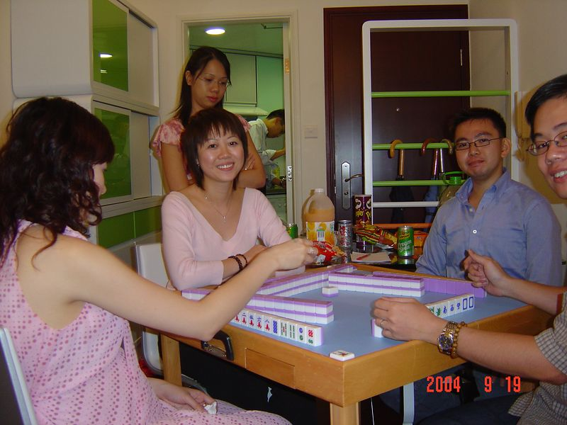 Mahjong @ Ricky's new home in Tseung Kwan O.