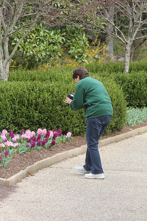 Sue trying to get a great photo