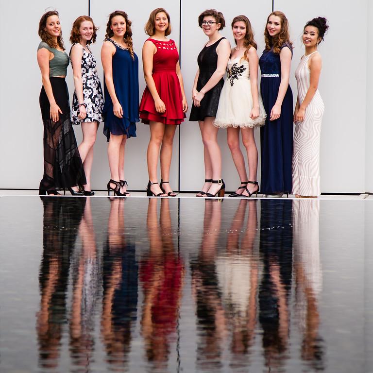 L to R: Eva, Anna, Zoe, India, Ruby, Emma, Ivy, Xena