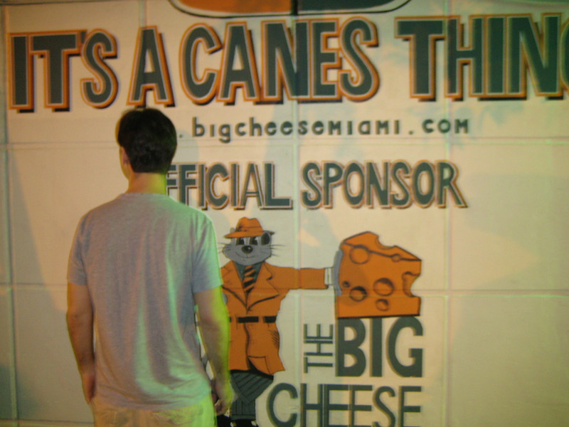 Here is Jon at The Big Cheese.