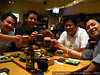 Gettin' our drink - and sushi - on. :)