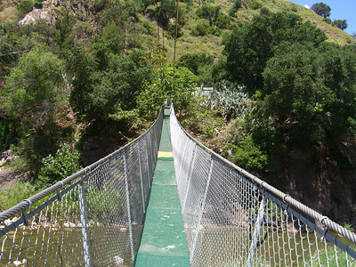 suspension bridge across the Sespe Creek