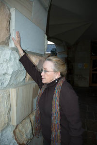 Wanda is so strong... Watch her as she holds up this wall.