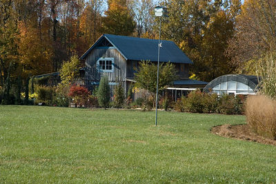 Felts' barn and nursery in the fall of 05