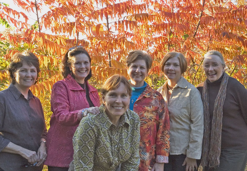 Here we are! Sandee Mims, Peggy Bowe, Susan Felts, Wanda Webb, Libby Mulloy, and Wanda Warren