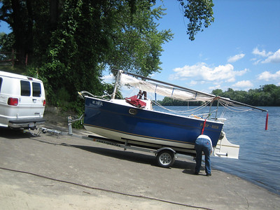 Preparing the boat for launch