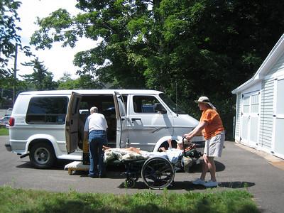 Kate brings Shemaya to the van