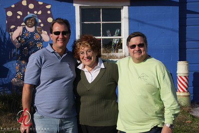 Three Musketeers...er uh, sorry...three SmugMuggers! Alex, Me and John in Cape Charles, Virginia.  Thank you both for the great effort to come meet us and share the day. We really enjoyed our time so very, very much!