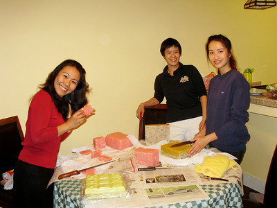 Cutting the soap -- Chisa, Anna, Wen-Ching