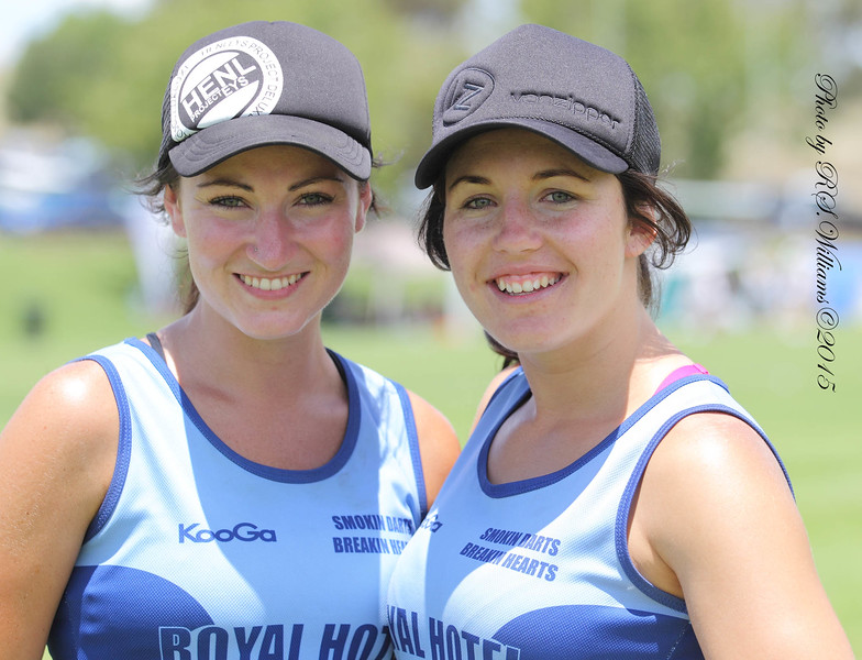 Bron and Jess at the Yass Touch Carnival January 2015.