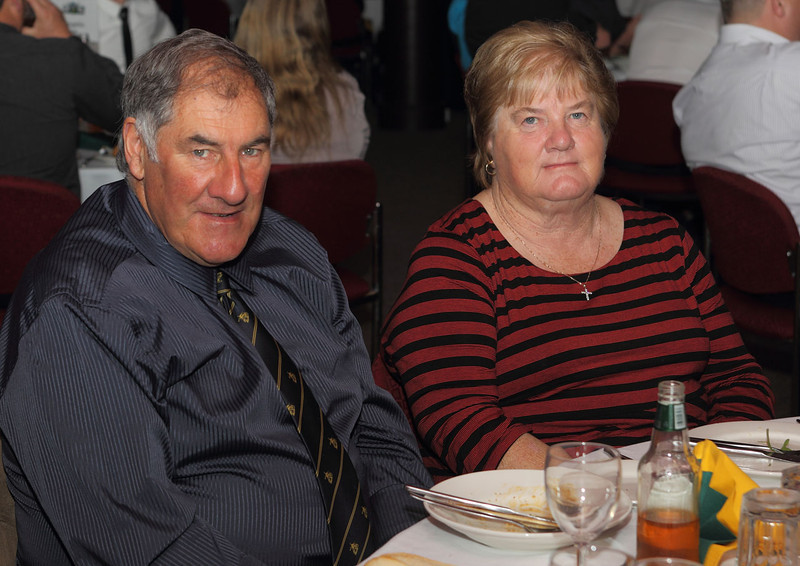 Tim and Elaine enjoy presentation night at the Les McIntyre Medal dinner at West Belconnen Leagues 2013.