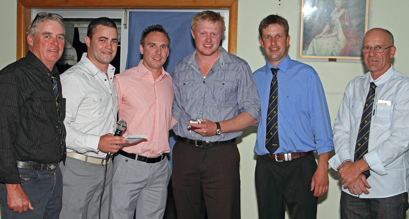 Curley Sykes, Connor Dacey, Steve Kirby, Ben Grange, Michael Brayshaw and Jack Lee at Binalong Golf Club 2010