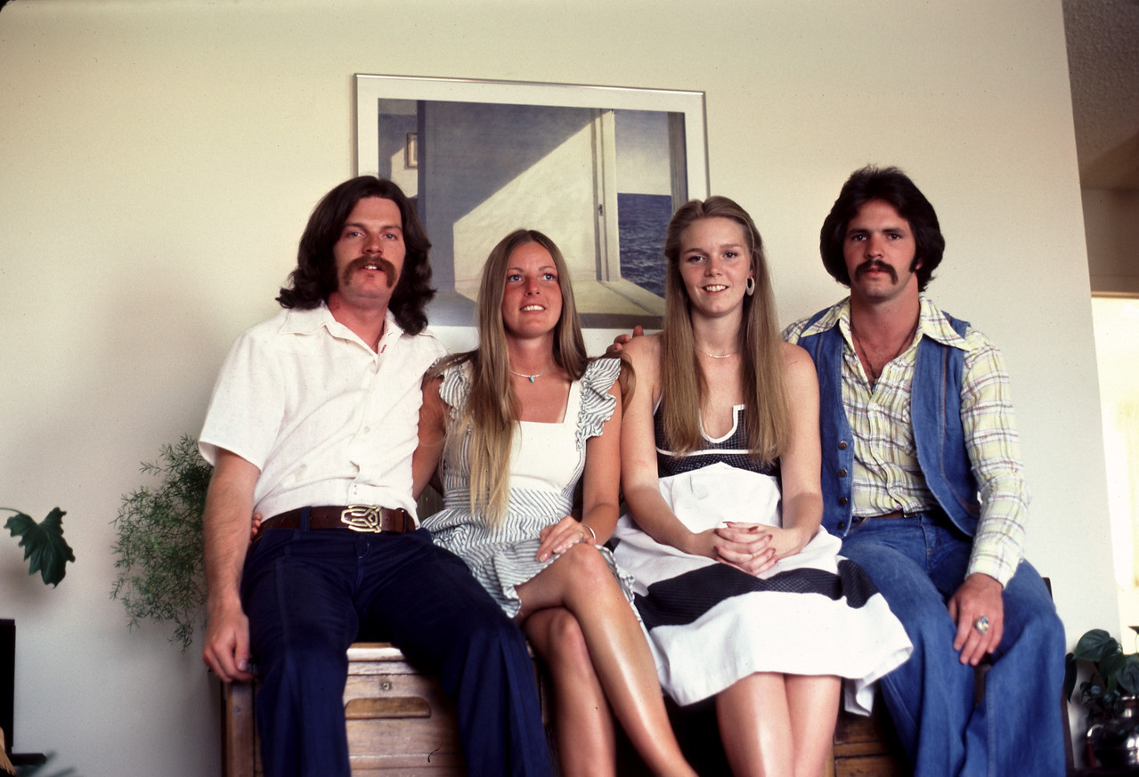 Post Nav visit to Colorado in 1977 - Jack, Lindie, Pam & Butch