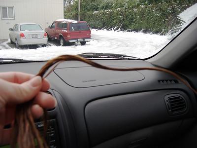 My frozen hair