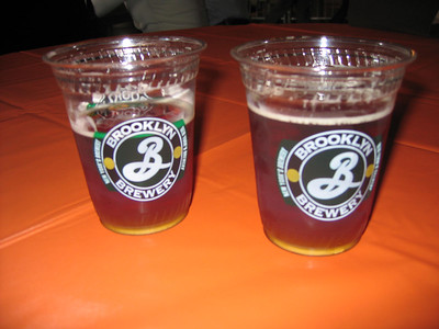 Pumpkin Ale Drinking Contest...Rin was beating Christina