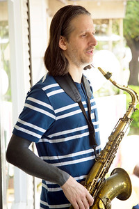 Seth playing sax.