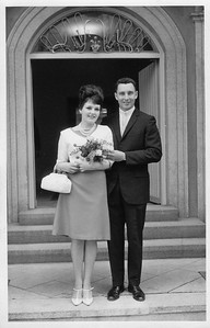 Stan & Silvia on their wedding day, 1967.
