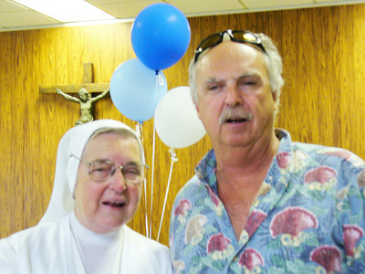Mike Altobelli and Sister Rita