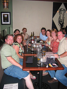 Dinner at Gordon Biersch  Saturday night with Joey, Jinja, Dave, Molly, Fanny, Sadie, Steve, Amy, Stacey and Mike.
