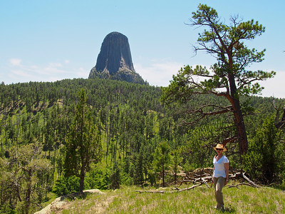 Sonja at Devil's Tower 2