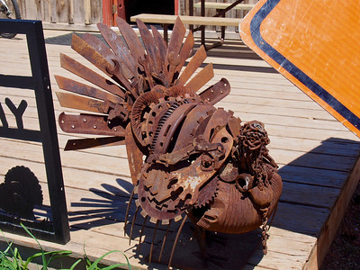 Scrap metal turkey in Hulett, WY