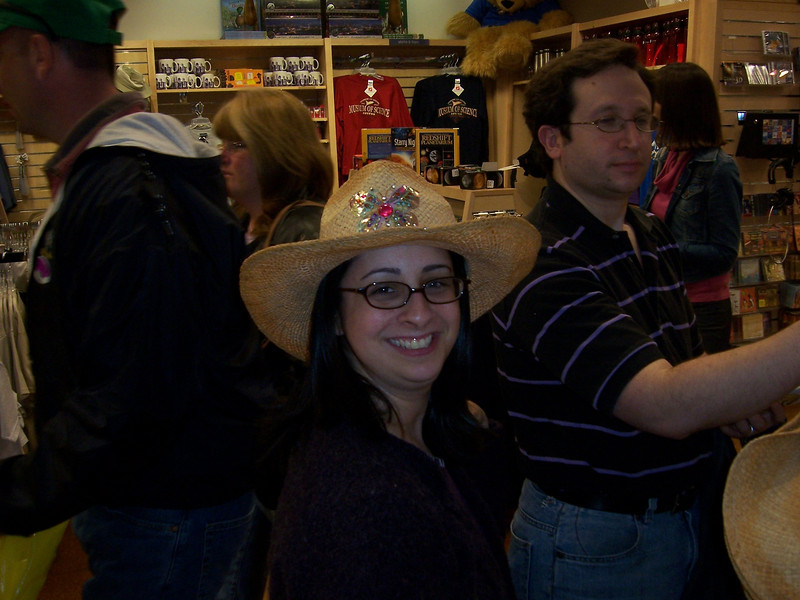 The gift shop.  It's not a vader mask, but it works.  (That's Jenn and Gary by the way).