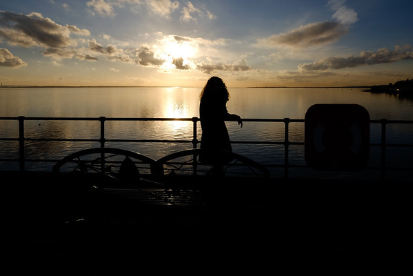 Sue on Southend Pier