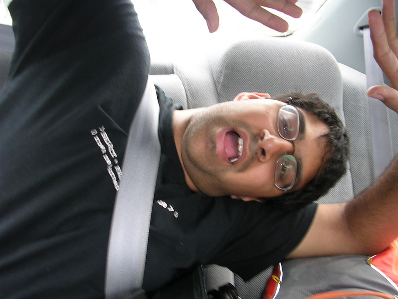 Alykhan on the drive back from Seattle