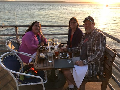 Sunset dinner at Ray's Cafe May 2017