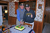 Knobby and Chuck celebrate with the cutting of the cake!