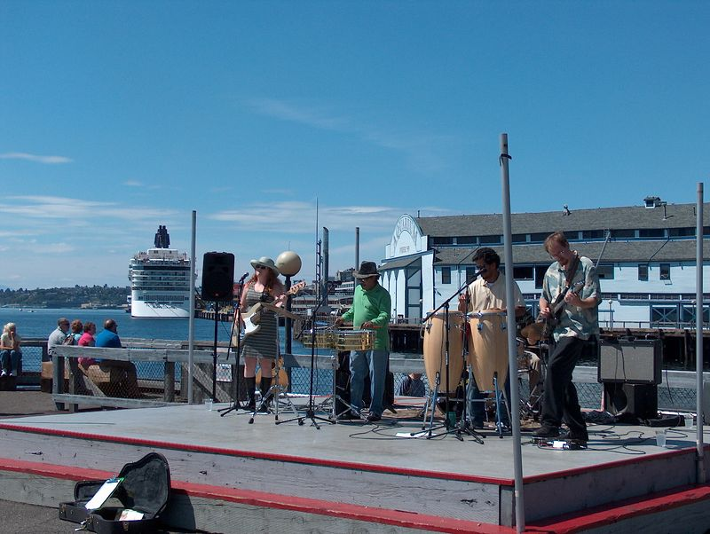 a really good jazz band on the waterfront