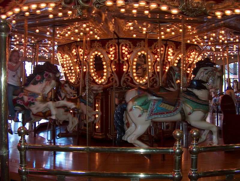 indoor merry-go-round at the waterfront mall