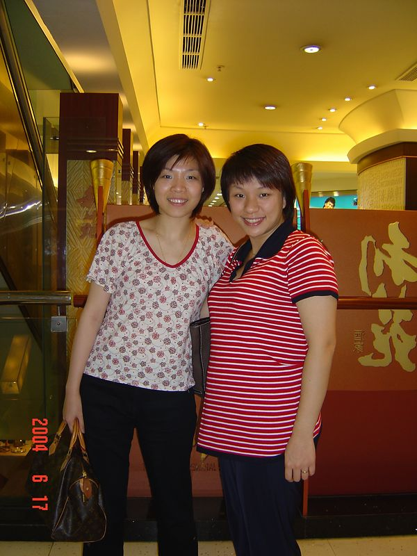 Yvonne and Fiona @ Mongkok  <p> Fiona is pregnant at that time....see her little belly.....