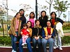 Behind from left to right: Youmi, Presilla, Ayumi, Yvonne and Candy<p>Front from left to right: Ava and her daughter, Charing and Fatima