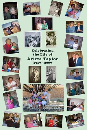 Arleta (Granny) Taylor memorial poster