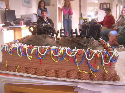 on the actual day (11/16) a tasty chocolate cake at work.... mmmmm