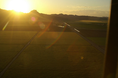 Agriculture in Yuma at sunrise.