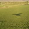 Our shadow over fields near Wellton.