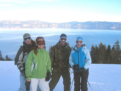 Christian, Molly, Scott, Denise, and Lake Tahoe.
