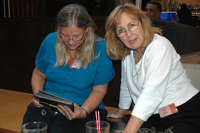 Checking it out. Leslie Hiebert, Ellen Turner