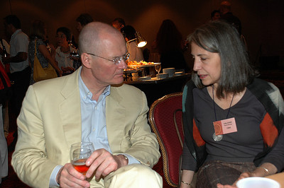 Co-stars reunited. Lars Freden, Valerie Saint-Rossy