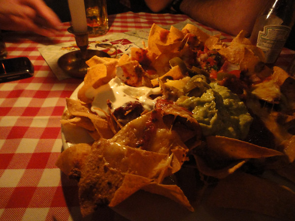 Nachos in Berlin - who's idea was that anyway? Brian?