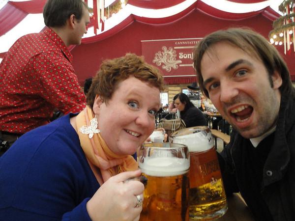 Yes, we found the beirgarten at the Cannstatter Volkfest