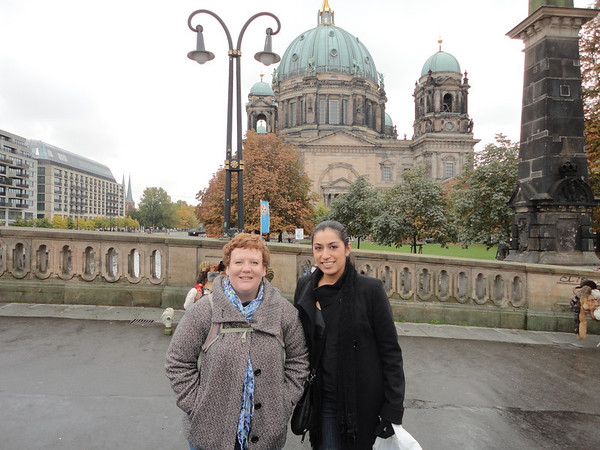 Christina and Erica and Berliner Dom