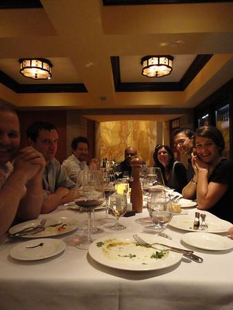 Team Dinner - Jens, Brian, Gary, Barry, Idit, Yalcin, Doris, and Ulla