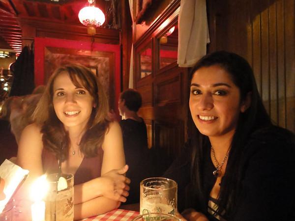 Linda and Erica at the White Trash Bar