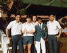 School sport day 1984 at Toa Payoh Stadium. Chris,  Robin, David, Shan and Arthur.