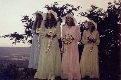 bridesmaids at M's wedding