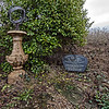 Without regular pruning the laurel bush has started to cover the sundial. The rest of the vegetation is dry and brown, but hopefully just dormant until spring.