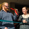"""Cory gets the """"Key to the City of Silverthorne,"""" which Mayor Bruce Butler says may also be used as a bottle opener."""